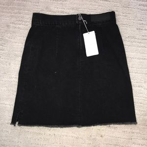 Zadig and Voltaire high waisted jean black skirt
